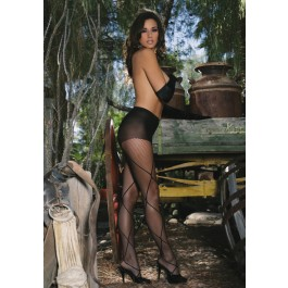 Fishnet Pantyhose with Criss Cross Detail