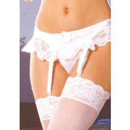 Plus Size Women's Satin Garter Belt