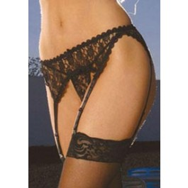 Plus Size Women's Lace Garter Belt
