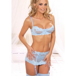 Embroidered Bra And Panty