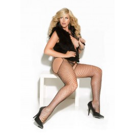 Diamond Net Suspender Pantyhose