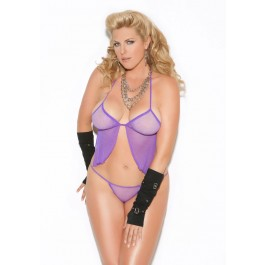 Fishnet Camisole Top And G-String