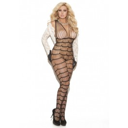 Vertical Striped Bodystocking.