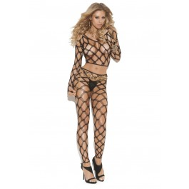 Diamond Net Long Sleeve Cami Top And Matching  Leggings.