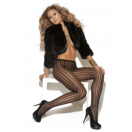 Pantyhose With Feather Design.