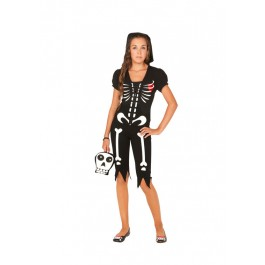 4 Pc. Costume Includes Hoodie Capris Skirt And Purse. Glow In The Dark