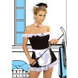 4 Piece Sexy Maid Plus Size Costume