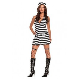 Irresistible Inmate-3 Pc. Costume Includes Dress, Handcuff Belt And Hat