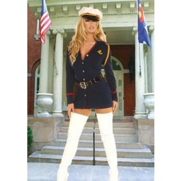 Plus Size Officer Naughty 2 Piece Costume Set