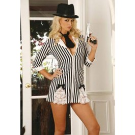 Gangster Girl Plus Size Holiday Party Costume