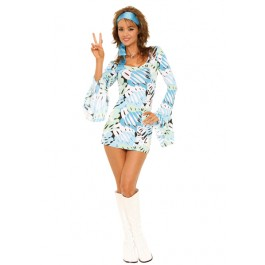 Peace Love And Rock N Roll Retro Print Costume