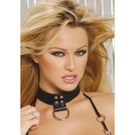 Leather Choker With Ring