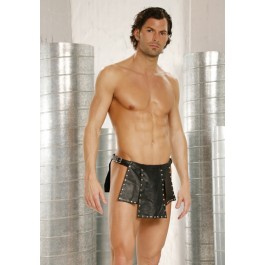Men's Leather Kilt With Nail Heads