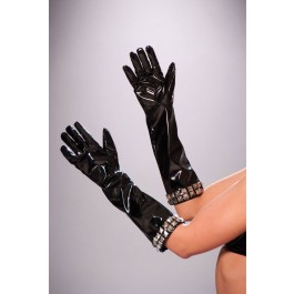 Vinyl Gloves Trimmed With Square Nail Heads