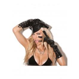 Lace Up Vinyl Gloves.