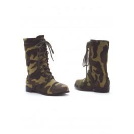Children's 1 Inch Heel Camo Ankle Boot