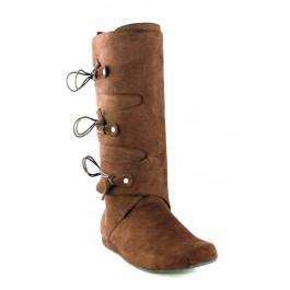 Men's 1 Inch Heel Microfiber Boot