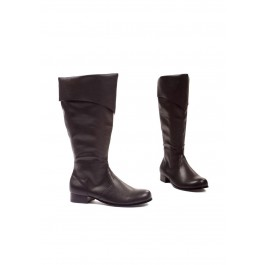 Men's 1 Inch Heel Black Pu Boot