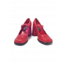 3 Inch Heel Mary Jane Women'S Size Shoe With Glitter