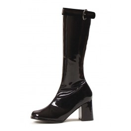 Women's 3 Inch Knee High Boots With Zipper And Buckle