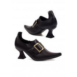 Women's 3 Inch Heel Witch Shoe With Buckle