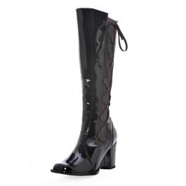 """Mod 3"""" Knee High Boots With Zipper"""