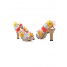 Women's 4 Inch Heel Sandal With Flower