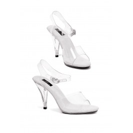 4 Inch Heel Clear Sandal Women'S Size Shoe With Ankle Strap