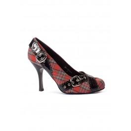 4 Inch Heel Pump Women'S Size Shoe With Buckles