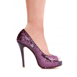 "Flamingo 4"" Heel Open Toe Glitter Pumps"