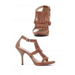 4 Inch Sandal Women'S Size Shoe With Fringe