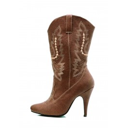 Women's 4 Inch Heel Ankle Cowgirl Boot With Stiletto Heel