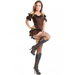 4 Inch Knee High Steampunk Boot With Laces