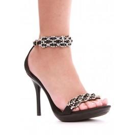 Sterling 4 Heel Rhinestone Sandal