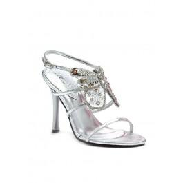 4.5 Inch Heel Women'S Size Shoe With Rhinestone Butterfly