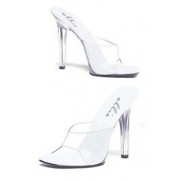 5 Inch Heel Clear Mule Women'S Size Shoe
