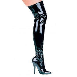 5 Inch Heel Thigh High Stretch Boot Women'S Size Shoe