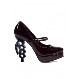 Women's 5 Inch Heel Pump With Maryjane Strap And Knuckle Heel