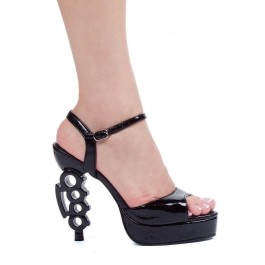 Women's 5 Inch Heel Sandal With Ankle Strap And Knuckle Heel
