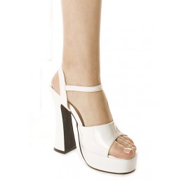 5 Inch Chunky Heel Sandal Women'S Size Shoe With Ankle Strap