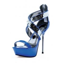 "Roni 5"" Metallic Stiletto Heel Platform Sandal"