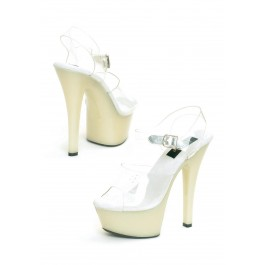 Women's 6 Inch Heel Glow In The Dark Sandal With 2 Inch Platform And Ankle Strap
