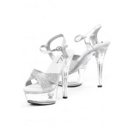 6 Inch Heel Sandal Women'S Size Shoe With Glitter Straps