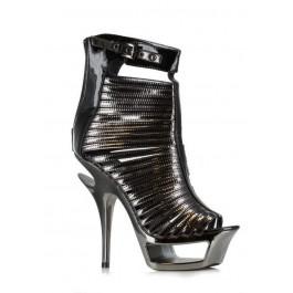 6 Inch Metallic Cut Out Heel