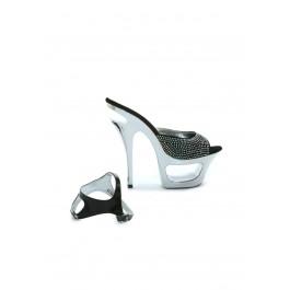 Xena 6 Jeweled Heel Sandal
