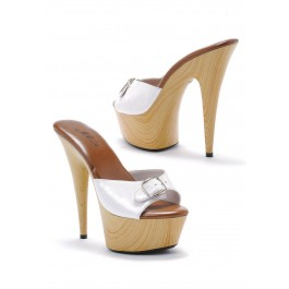 6 Inch Pointed Heel Mule Women'S Size Shoe With Buckle