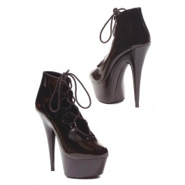 6 Inch Closed Toe Ankle Boot Women'S Size Shoe With Open Laceup