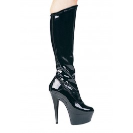 6 Inch Pointed Stiletto Stretch Knee Boot Women'S Size Shoe With Zipper