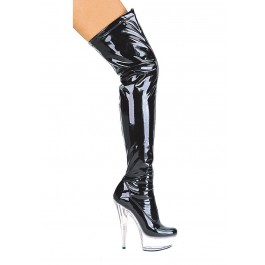 Women's 6 Inch Pointed Stiletto Heel Thigh High Stretch Boots