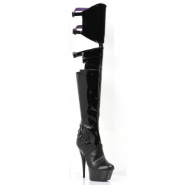 6 Inch Pointed Stiletto Heel Thigh High Stretch Boots